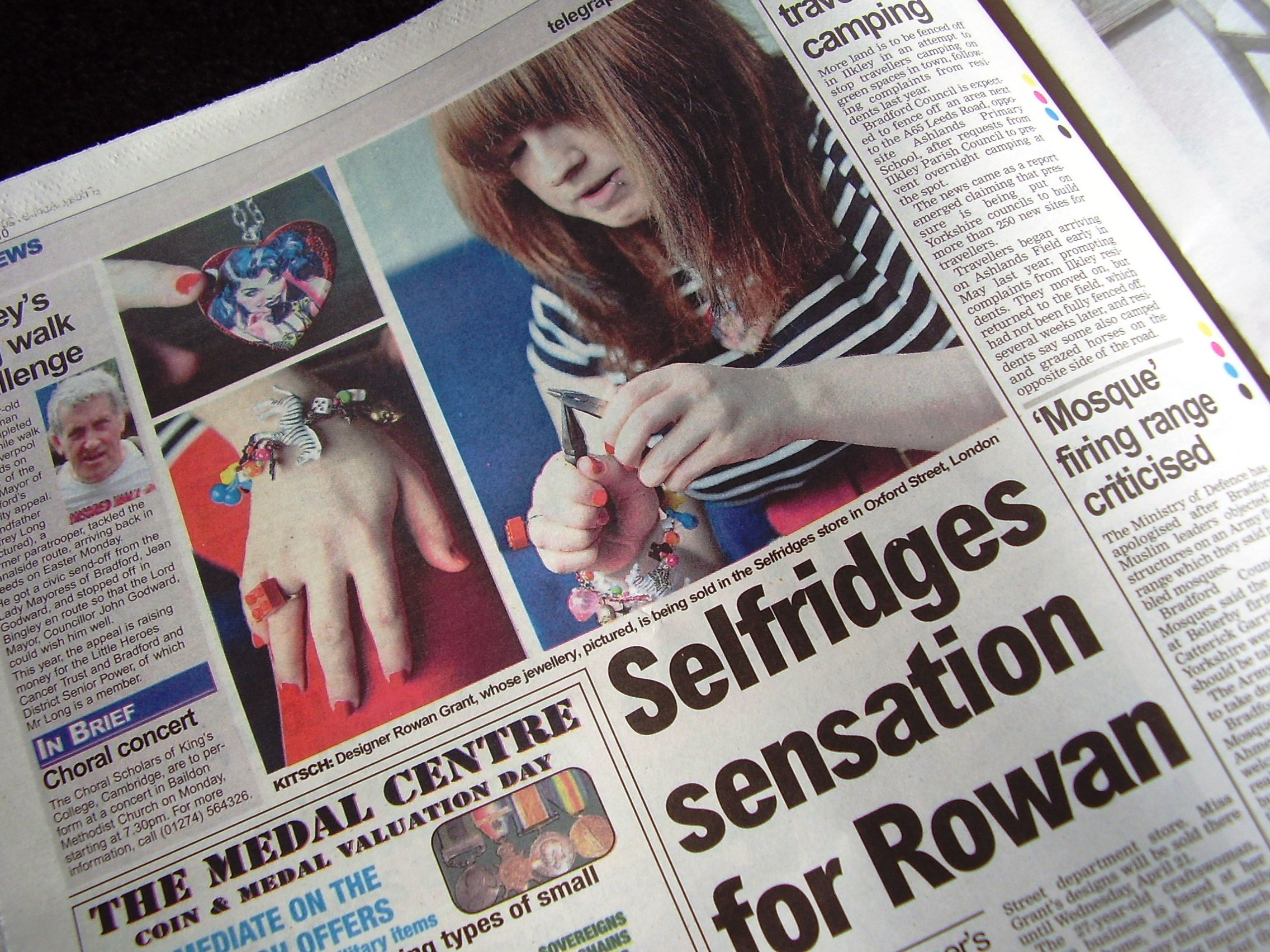 Selfridges sensation for Rowan